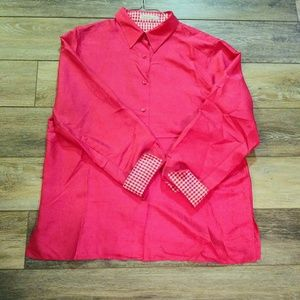 Foxcroft pink 100% silk top